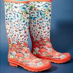 Anthropologie Colloquial Rain Boots Size 7